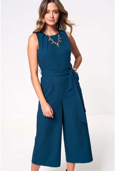 Ella Culotte Jumpsuit in Teal