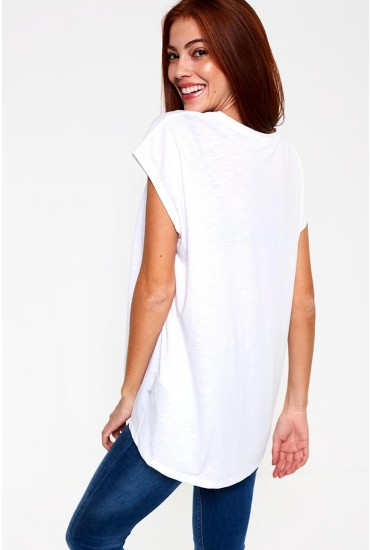 Mathilde Long T-Shirt in White