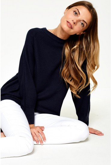 Mathison Pullover Knit in Navy