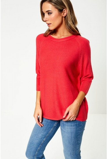 Mathison Pullover Knit in Neon Pink