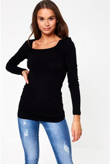 Maxi Long Sleeve T-Shirt in Black