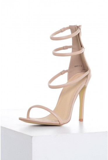 May Strappy Heels in Natural PU