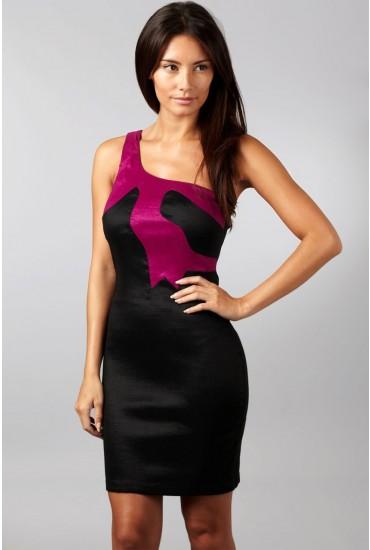 Megan Contrast One Shoulder Dress