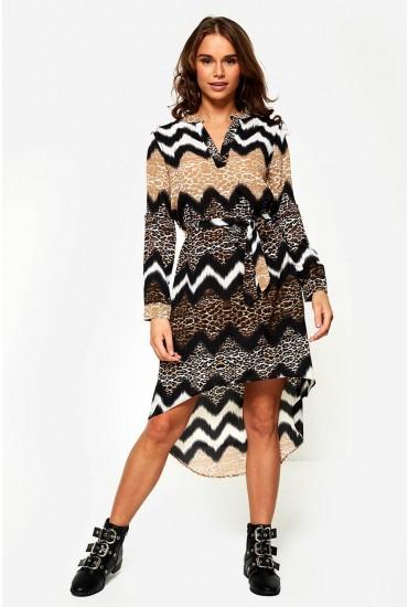 Nala Midi Dress in Animal Print