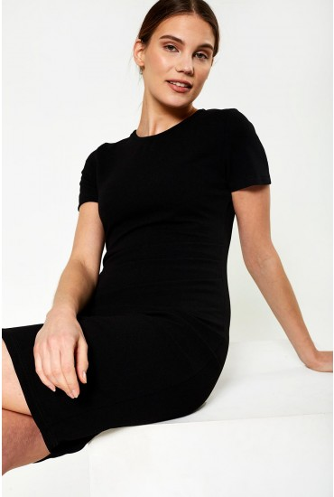 Giovana Midi Dress in Black