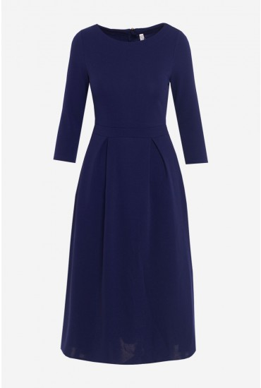 Sarah Midi Occasion Dress in Navy
