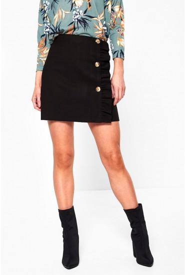 Hai Military Style Mini Skirt in Black