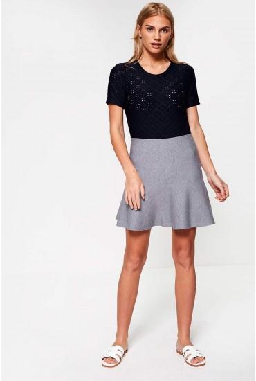 Fresno Mini Skirt in Grey
