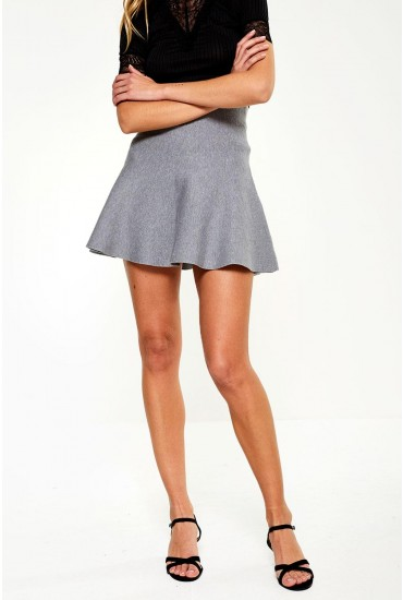 Fresno Mini Skirt in Grey