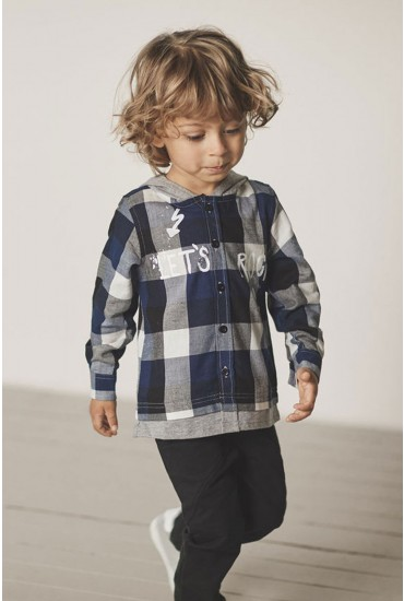 Molasse Boys Hooded Shirt