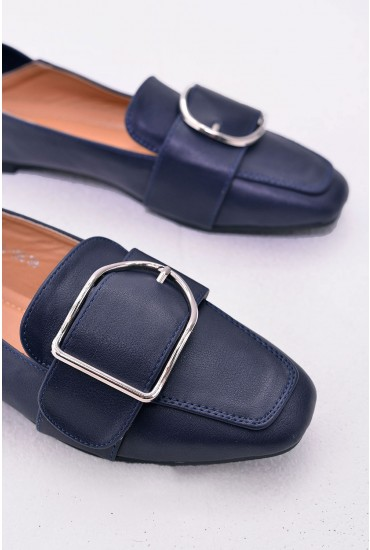 Tory Loafer Shoes in Navy