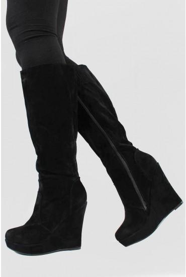 Nadalia Knee High Wedge Boot
