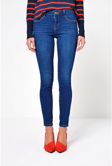 Icon Short Push Up Jeans in Dark Blue