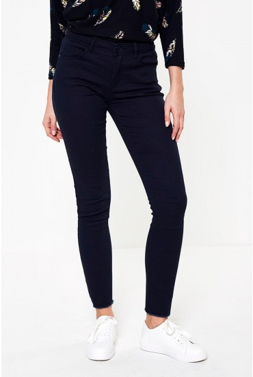 New High Waist Skinny Jeans in Navy