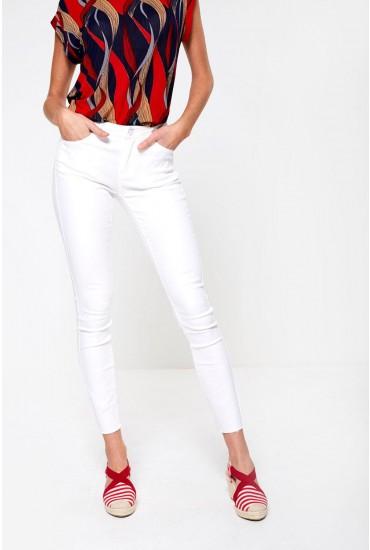 New  High Waist Skinny Jeans in White