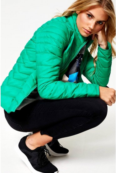 Demi Nylon Jacket in Green