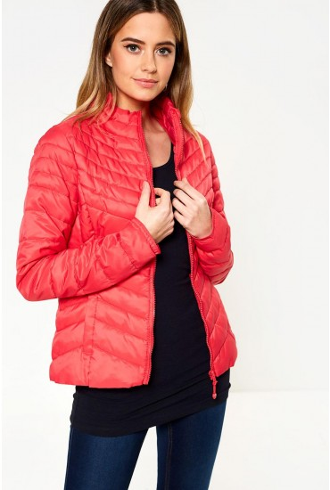 Demi Nylon Jacket in Pink