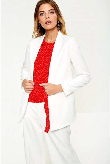 Palma Occasion Blazer in Off White