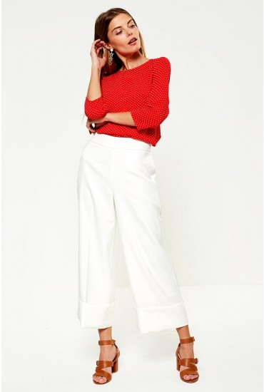 Palma Occasion Culottes in Off White