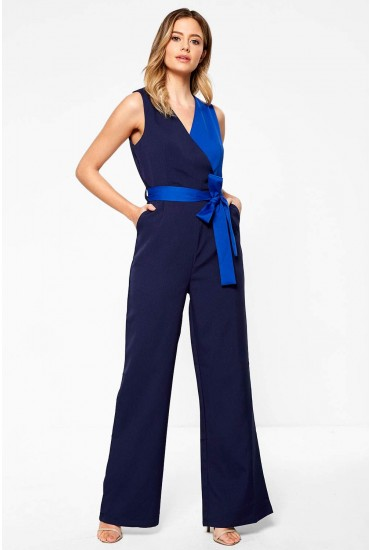 Phoenix Occasion Jumpsuit in Navy