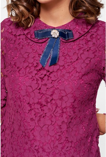 Stacy Occasion Lace Top in Purple