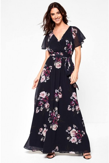 Jaden Occasion Maxi Dress in Black