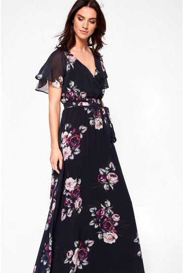 Jaden Occasion Maxi Dress in Navy