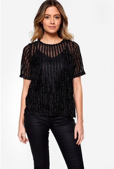 Shane Occasion Top in Black