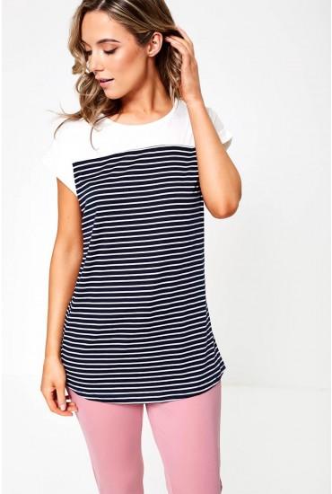Ona T-Shirt in Navy Stripe