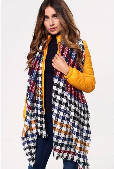 Astrid Oversized Weaved Scarf in Multi