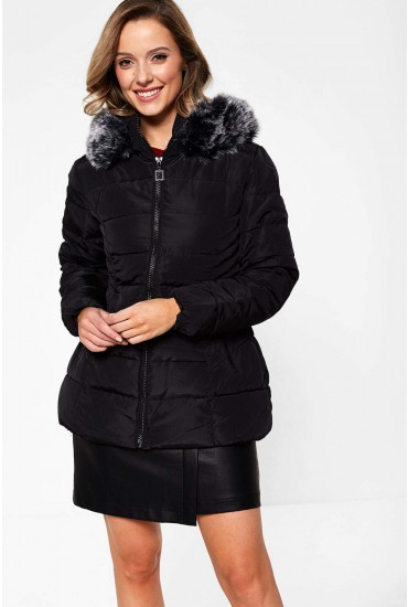 Mackenzie Parka Jacket in Black