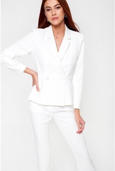 Pepla Blazer in White