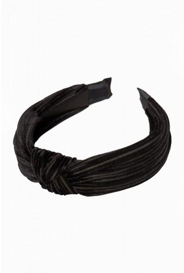 Pernilla Velvet Knot Hairband in Black