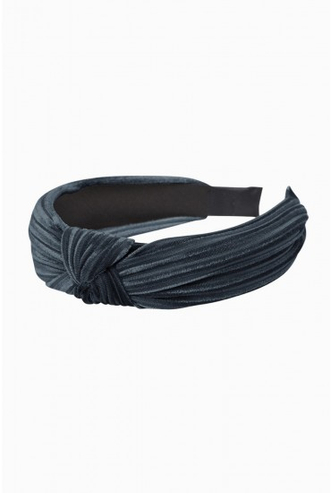 Pernilla Velvet Knot Hairband in Blue