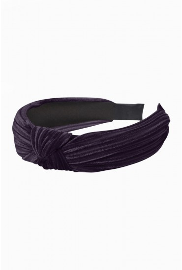 Pernilla Velvet Knot Hairband in Purple