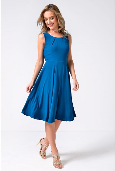 Lottie Wrap Around Dress in Teal