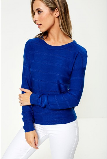 Pulli Long Sleeve Jumper in Blue