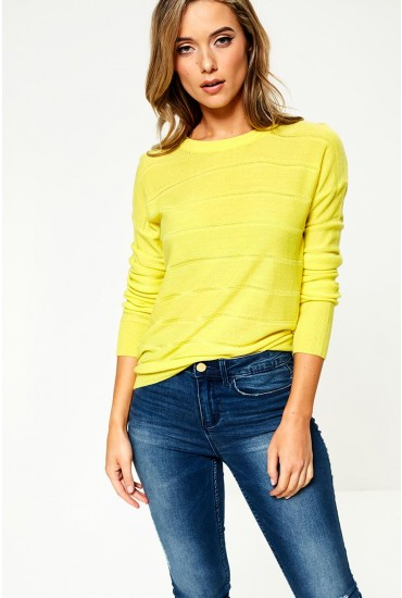 Pulli Long Sleeve Jumper in Neon Yellow