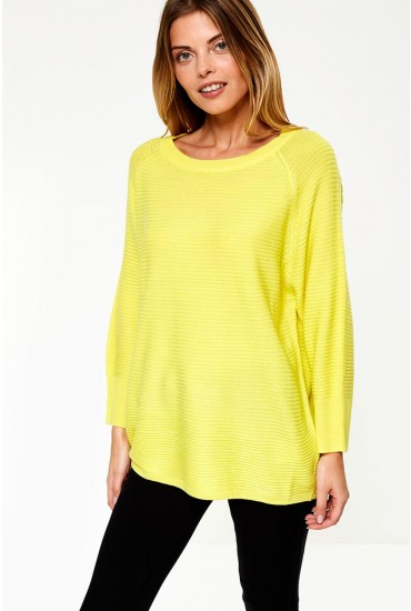 Mathison Pullover Knit in Neon Yellow
