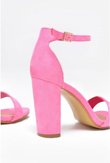 Molly Block Heel Sandals in Pink