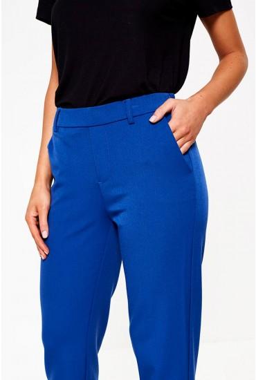 Maya Petite Cigarette Trousers in Royal Blue