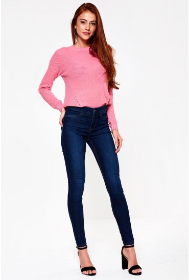 Seven Petite Shape up Jeans in Dark Blue