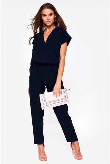 Clady Relaxed Jumpsuit in Navy