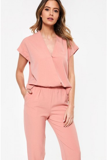 Clady Relaxed Jumpsuit in Soft Pink