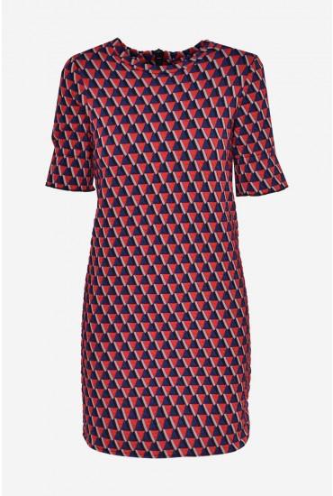 Retro Textured Short Dress