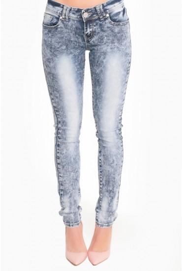 Zara Acid Wash Skinny Jeans