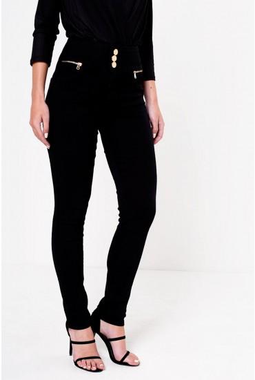Celine 3-Button Jeans in Black
