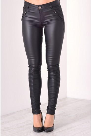 Helen Wax Trousers in Black