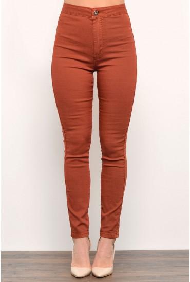 Sondra Jeans in Rust