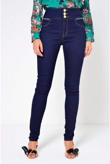 Faith High Waisted Jeans in Indigo